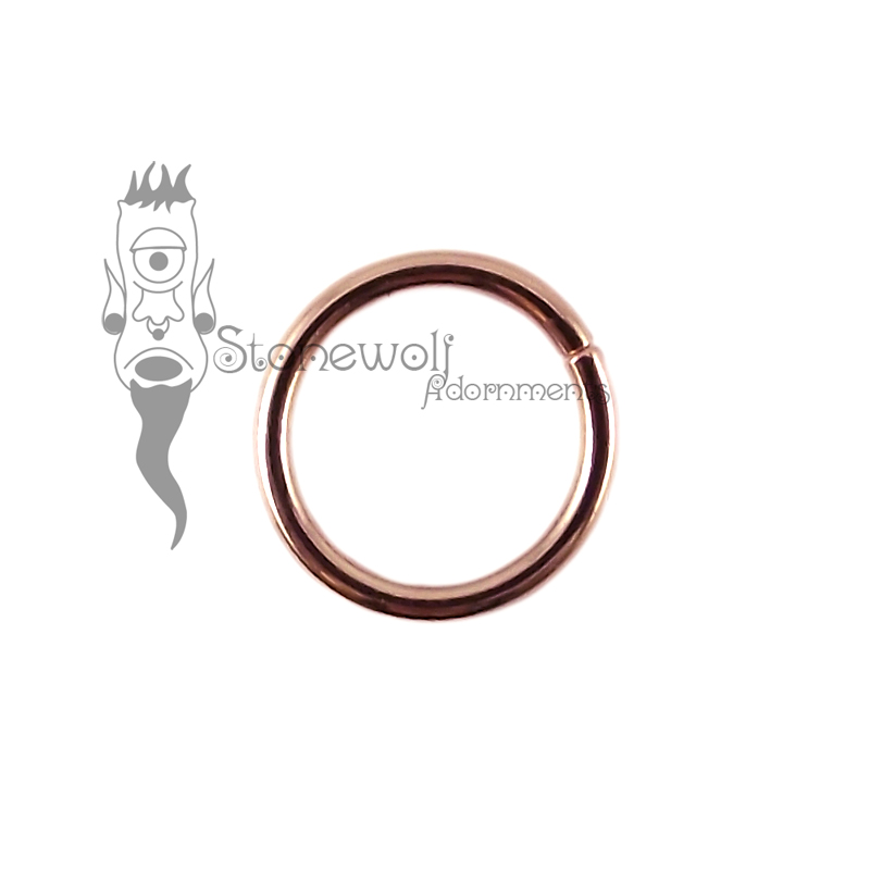 9K Rose Gold 1.2mm Seam Ring with 8mm Internal Diameter