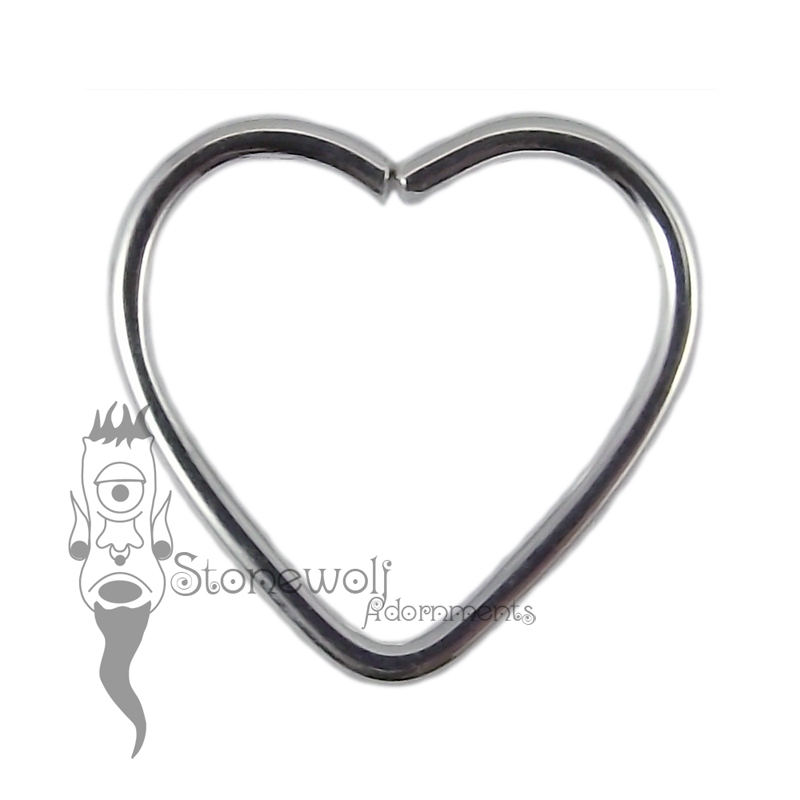925 Silver Heart Seam Ring - Ready To Ship