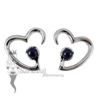 Pair of 925 Silver Jewel of my Heart Weights - Lapis
