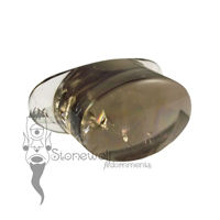 Smokey Quartz 20mm Oval Labret - Ready To Ship