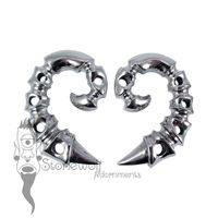 Pair of 925 Silver Spinal Ear Weights