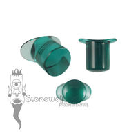 Teal Glass 12mm Round Labret - Ready To Ship