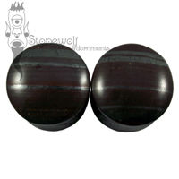 Pair of Tiger Iron Stone Plugs Double Flared Made to Order