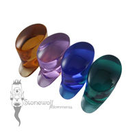 Transparent Glass Oval Labret Choice of Colour - Made to Order