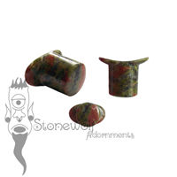 Unakite 11mm Round Labret - Ready To Ship