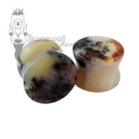 Wanong Dendric Opal 19mm Double Flared Plugs - Ready To Ship