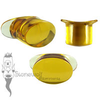 Golden Yellow Glass 14mm Oval Labret - Ready To Ship