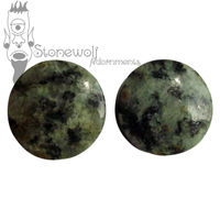 Pair of Zoisite Stone Plugs Double Flared Made to Order