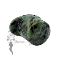 Zoisite 15mm Round Labret - Ready To Ship