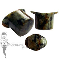 Zoisite 18mm Round Labret - Ready To Ship
