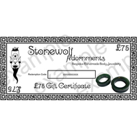 Gift Certificate for £75