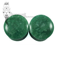 Pair of Amazonite Stone Plugs Double Flared Made to Order