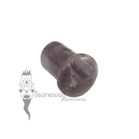 Amethyst 8mm Single Flared Stone Plug (Single) - Ready To Ship