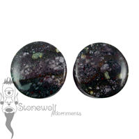 Pair of Bloodstone 24mm Stone Plugs - Ready To Ship