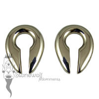 Pair of Bronze Keyhole Ear Weights
