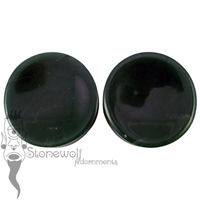 Dark Green Aventurine Concave 50mm Plugs- Ready To Ship