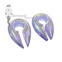 Gorilla Glass Lavender Gold Deluxe Dichroic Keyhole Weights