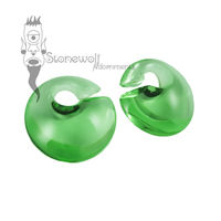 Gorilla Glass Bright Green Mini Eclipse Glass Ear Weights