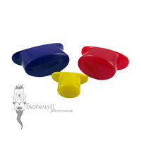 Opaque Glass Oval Labret Choice of Colour - Made to Order