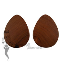 Osage Orange Wood Teardrop Plugs 74mm - Ready To Ship
