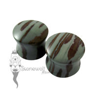 Pair of Owyhee Jasper Stone Plugs Double Flared Made to Order
