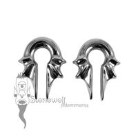 Pair of Silver Paladin Ear Weights