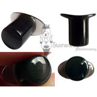 Silver Sheen Obsidian Stone Round Labret Made to Order