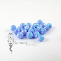Synthetic Opal CBR Bead - OP74 Multi Cornflower 4mm