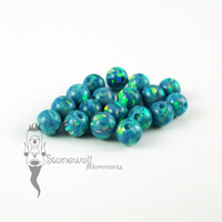 Synthetic Opal CBR Bead - OP02 Marine 4mm