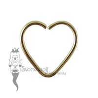 18k Yellow Gold 1.2mm Heart Shape Seam Ring - Made to Order